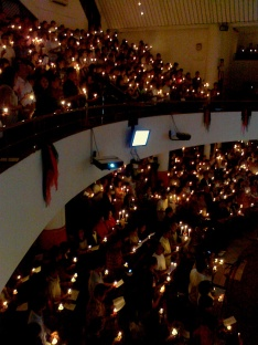 Christmas night at church