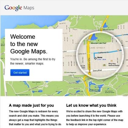 google maps baru versi beta