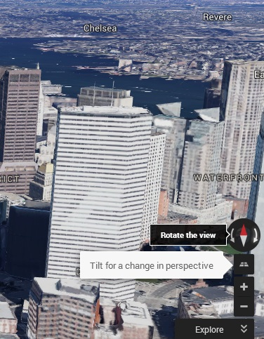 rotate and 3D in action google maps baru