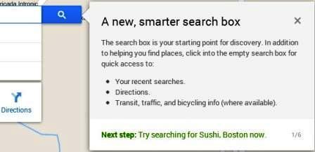 smarter search box google maps baru