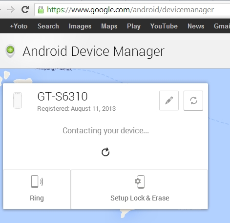 contacting your device android device manager