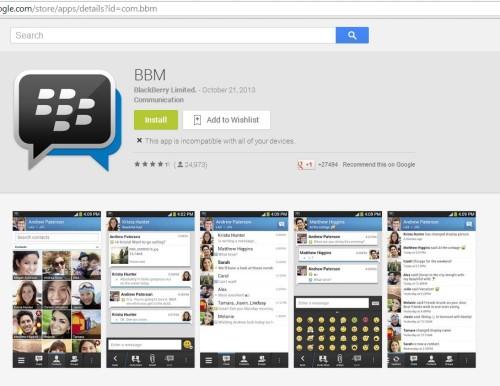 Download Aplikasi BBM untuk Android dari Google Play