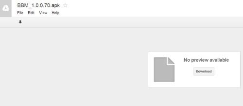 Download BBM via Google Drive