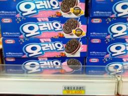 Harga Oreo di Korea, kalau dirupiahkan sekitar Rp 14000