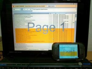Remote Desktop, Opening Microsoft Excel 2013 on Samsung Galaxy Young S6310
