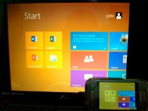 Remote Desktop, Windows 8 Metro on Samsung Galaxy Young S6310