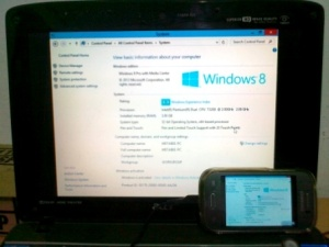 Remote Desktop, Opening System Properties, accessed on Samsung Galaxy Young S6310