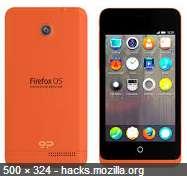 Contoh tampilan antarmuka Firefox OS