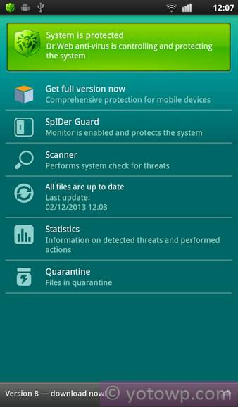 Android Antivirus Dr.Web
