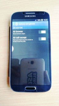 menu air gesture samsung s 4 replika