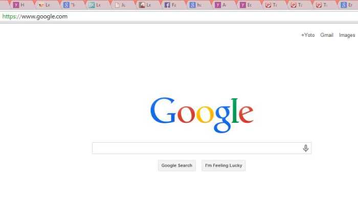 google back to normal
