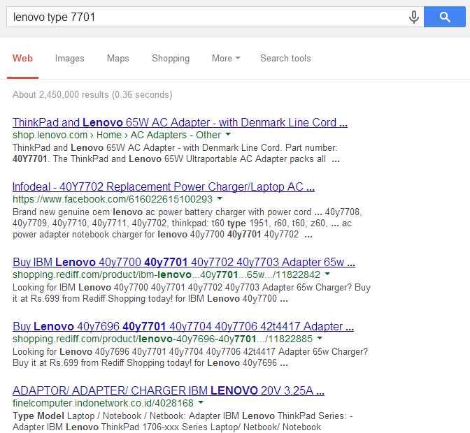 hasil pencarian lenovo tipe 7701