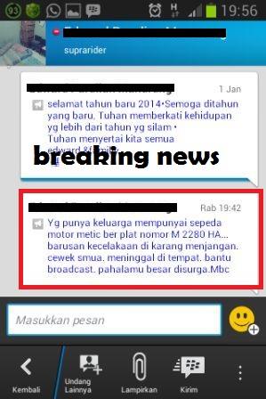 update kecelakaan