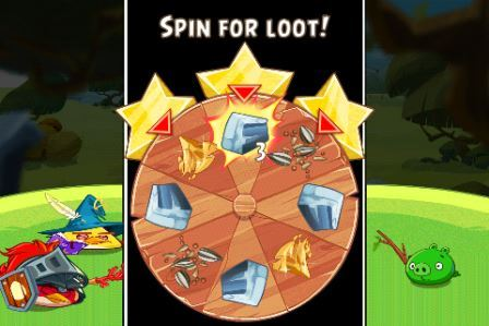 Angry Birds Epic APK Roullete Screen Screenshot