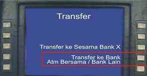 cara transfer atm bersama